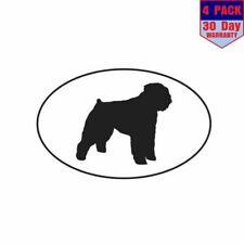 Bouvier des Flandres Euro dog 4 Stickers 3X5 Inch Sticker Decal