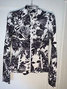 Lululemon Brisk Bloom Floral Black White From Jacket  Size  6