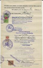 1935 Lithuenian Document with Revenue stamps, US Consular Stamp RK 28 Perf 10