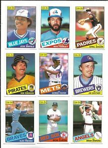 1985 OPC Baseball:Lot of 9 different