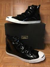 RARE🔥 Converse Chuck Taylor Jack Purcell JV 4V Patent Black Leather Straps 12