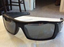 Oakley GASCAN Sunglasses 03-471 Polished Black Frame Grey Lens AB7