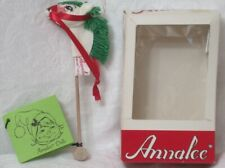 "1985 Annalee Doll Christmas Ornament Stick Hobby Horse 6"" w Original Box"