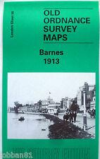 OLD ORDNANCE SURVEY MAP BARNES near PUTNEY BRIDGE LONDON 1913 S98 New
