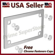 New Chrome Metal Motorcycle License Plate Frame Harley Davidson Honda & Yamaha