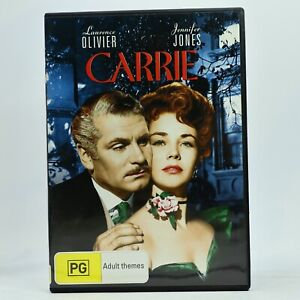 Carrie Laurence Olivier Jennifer Jones DVD Good Condition Free Tracked Post