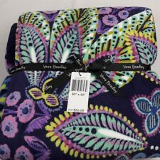 New Vera Bradley Throw Blanket Batik Leaves Airplane Travel Free Shipping