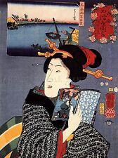 Pintura Retrato Utagawa Kuniyoshi Mujer Geisha Japón Libro Poster Print lv2812