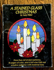 Stained Glass Christmas Patterns Hidden House Publications 1981 Judy Miller