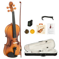 Acoustic Violin 4/4, Spruce Top&Ebony Fitting, Solid Wood Violin Outfit Beginner