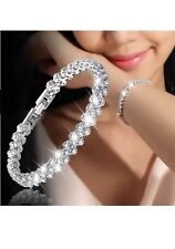 DIAMANTE CRYSTAL STONE SILVER GOLD HAND PANJA HAND CHAIN BRACLET RING HAND PIECE