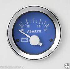 Manometro Strumento Road Italia Abarth Fiat 500 Voltmetro 10-16 Volt 52mm Blu