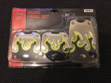 3pcs Manual Car Vehicle Non-slip Alloy Pad Pedal Aluminum Foot Treadle Cover UK