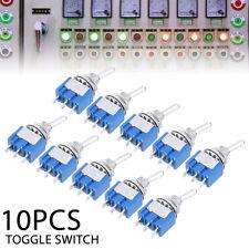 10pcs Interruttori a Levetta Leva MTS102 3pin SPDT 6A AC125V 2 Posizioni On/On T