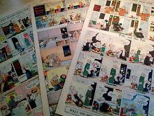 Lot Of 7 Polly & Her Pals-Cliff Sterrett Rare Fulls 1923/31-Surreal Classics Vg+