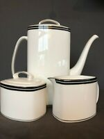 kate spade Lenox China UNION STREET Collection Coffeepot Sugar Bowl Creamer