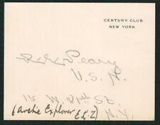 Robert Peary Signed Autographed Card - Century Club Stationary - North Pole