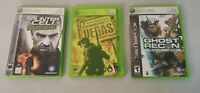 Tom Clancy Lot 3 Xbox 360 Ghost Recon Advanced Cell Double Rainbow Six Vegas