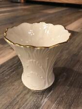 Lenox Leaf Designed Short Vase