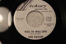 """BOB GALLION 45rpm """"Happy Birthday"""" & """"Wall to Wall"""" Hickory Records Nashville TN"""