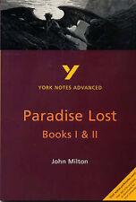 York Notes John Milton's  Paradise Lost Books 1 and 2 by John Milton Placket New