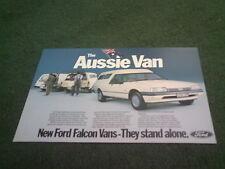 Octubre 1984 Ford Australia Falcon Aussie van GL & S-Color prospecto Folleto