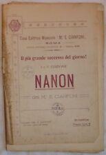 1929 CIANFONI NANON SPARTITI MUSICA ORCHESTRA MUSIC