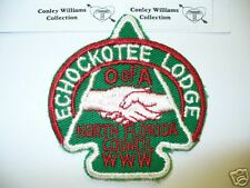 OA Echockotee Lodge 200, A-1, 1940s 50s, Arrowhead,pp,TOUGH !!, North Florida,FL