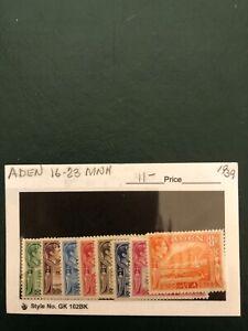 ADEN stamps-Scott 16-23 MNH cv$11