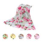 Fashion Rose Womens Girls Voile Long Chiffon Scarf Wrap Shawl Stole Scarves