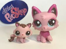 Authentic Littlest Pet Shop - Hasbro Lps - Mommy & Baby Persian Cat #2664 & 2665
