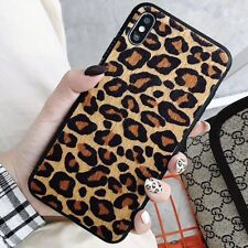 Leopard Print Bling Silicone Shockproof Cover Case For iPhone XS MAX XR 8 7 Plus