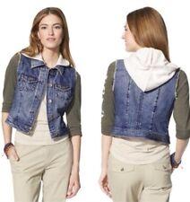 NWT FEED 4 Target Denim Hoodie Crop Vest Size XL