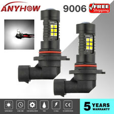 9006/HB4/9012 White LED Car Headlight 2 Bulbs12 SMD 6000k High Low Beam Fog Lamp