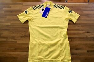 Vintage DESCENTE Cycling Jersey Size M Half Sleeve JAPAN Yellow Black