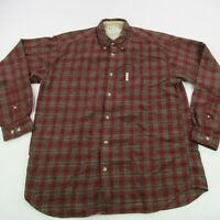 Columbia Shirt Long Sleeve Men's Large Check Red Outdoor Camping Hiking Casual