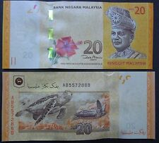 MALAYSIA RM20 BANKNOTE WITH SERIAL NO. AB5572888- UNC