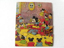ANCIEN PUZZLE  MICKEY / DISNEY  BOIS RECOUVERT PAPIER  12 PIECES / 22 X 18 CM