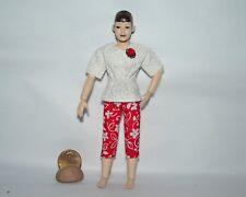 "Handcrafted Heidi Ott SZ Miniature Doll Capris-Top~1:12~Fits 5.5"" Movable Female"