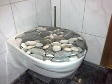 WC Sitz mit Absenkautomatik Stone Toilettendeckel Toilettensitz Klositz WC Klo