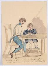 """Princess Henriette Odescalchi (1800-1852) """"Hungarian lesson (son Victor)"""""""