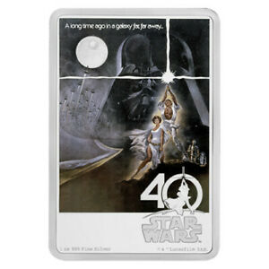 RARE 2017 $2 Niue Two Dollar Star Wars: A New Hope 1oz Silver Coin. FREE POSTAGE