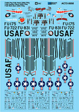 Microscale Decals 1/72 North American F-86A # AC720058