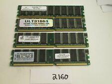 Mixed Brands lot of 4x1Gb=4Gb PC3200 400Mhz DDR1 desktop Memory RAM (2160)