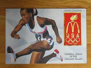 Promotional 1996 McDonald's JACKIE JOYNER-KERSEE Display Sign SUMMER OLYMPICS