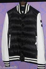 Moncler Jay-Z Carter Collection Leather Sleeve Varsity Puffer Coat XL 4 Limited!