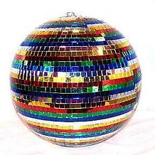 "RAINBOW MIRROR REFLECTION BALL 16"" dance disco spin party supplies glass tiles"