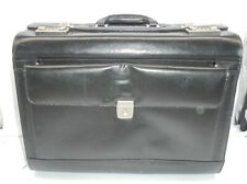Leather Trolley Briefcase Large Black . DER P1 CM