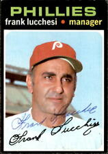 Frank Lucchesi 1971 Topps #119 Autographed Baseball Card Philadelphia Phillies