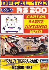 DECAL 1/43 FORD RS200 CARLOS SAINZ R.TIERRA RACE MADID 1987 WINNER (01)
